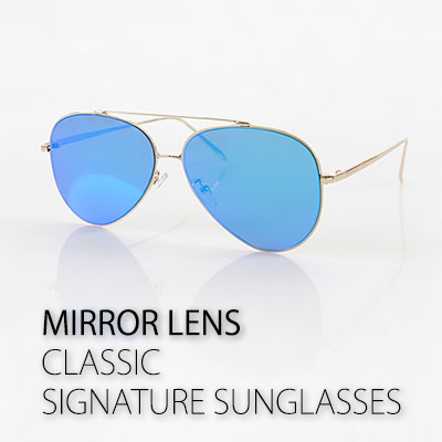 MIRROR LENS CLASSIC SIGNATURE SUNGLASSES (AVIATOR)