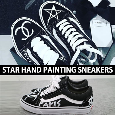 [UNISEX][22.5~28.0cm] STAR HAND PAINTING SNEAKERS