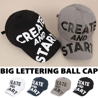 CREATE AND START BIG LETTERING BALL CAP