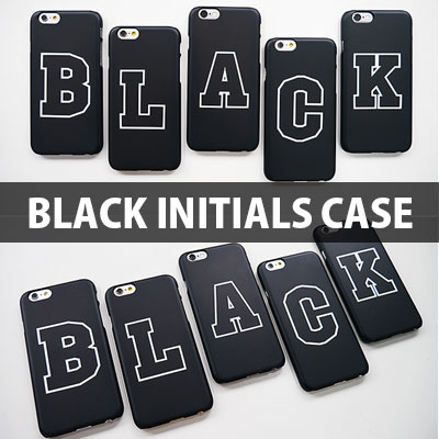 [TOUGH CASE] A~Z CAN CHOICE Black Initials Hard Phone Case