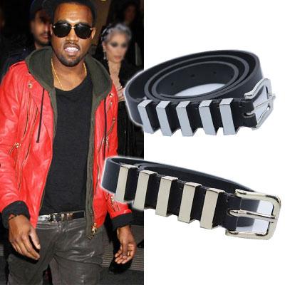 International celebrities plain clothes style items  . B @ A **** st Gold metal embllished Belt (2color)