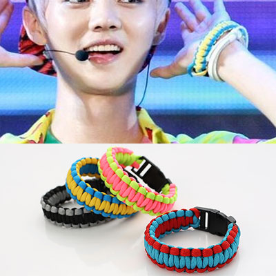 South Korea popular idol group EXO Luhan of style! NEON COLOR ROPE BRACELET ★