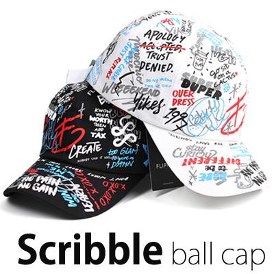 [unisex]4COLOR SCRIBBLE BALL CAP(2color)