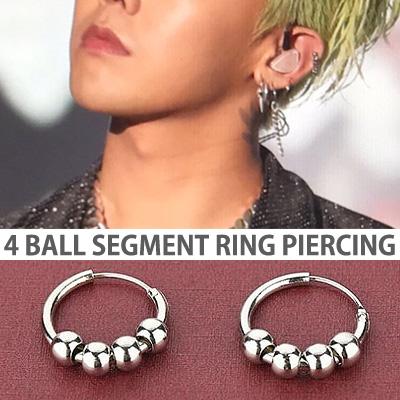 [unisex][1ea]BIGBANG GD/g-dragon st. 4BALL SEGMENT RING PIERCING