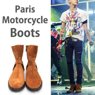 [UNISEX][24.0~28.0cm] G-dragon style!  Paris motorcycle boots/2COLOR/2TYPE