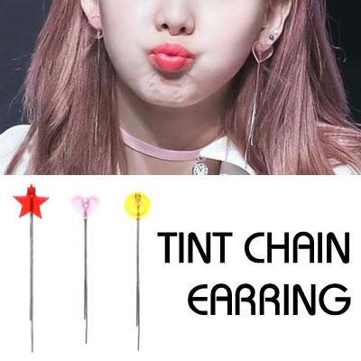 [Sponsorship of brand] TWICE Nayeon, Redvelvet st. TINT CHAIN EARRING(3type)