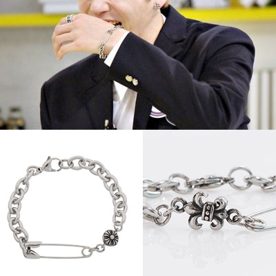 [UNISEX] [SURGICAL STEEL] WANNA ONE KANG DANIEL ST. SAFETY PIN & CHARM POINT BRACELET