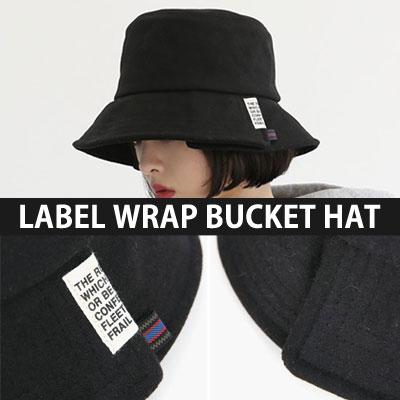[UNISEX] ENGLISH LETTERING LABEL WRAP BUCKET HAT(3color)