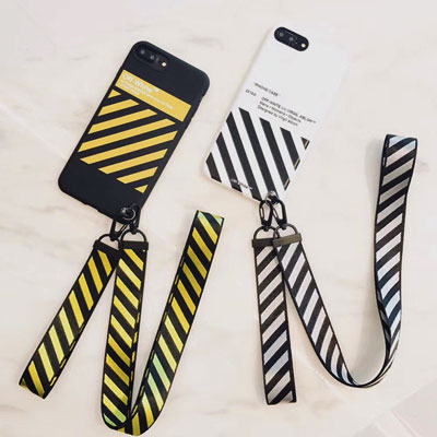 DIAGONAL PRINT STRAP iPHONE CASE(2color)