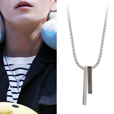 Wanna One  Ong Seong Woo st. UNBALANCE TWIN NECKLACE(2color)