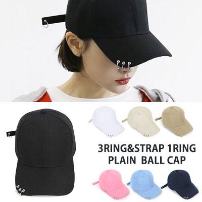 [UNISEX] BTS SUGA st. 3RING STRAP 1RING PLAIN BALL CAP(7color)