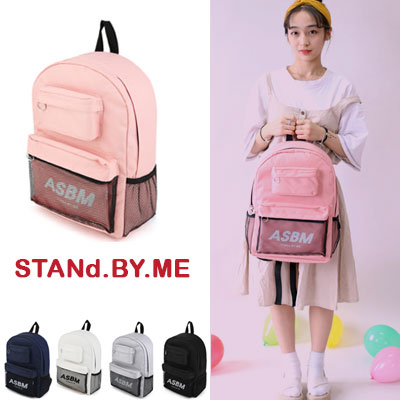 【STANd.BY.ME】MESH POUCH POINT BACKPACK(5color)