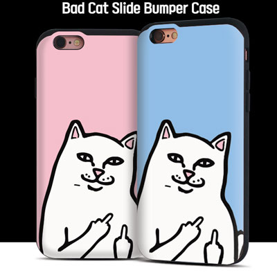 BTS SUGA/BAD CAT SLIDE BUMPER CASE(6color)