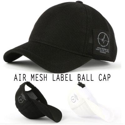[UNISEX] AIR MESH LABEL BALL CAP(2color)