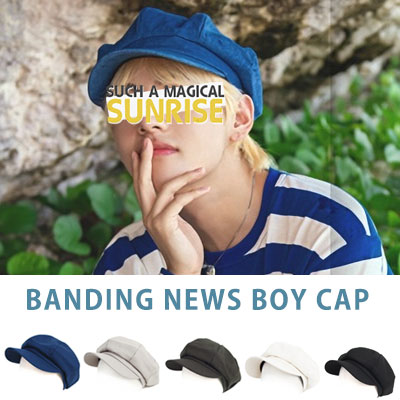 bts V st. BANDING NEWS BOY CAP(5color)