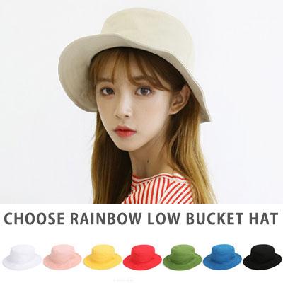 [UNISEX] CHOOSE RAINBOW COLOR LOW BUCKET HAT(8color)