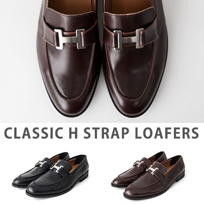 [25.0 ~ 28.0cm] CLASSIC H STRAP LOAFERS(2color)