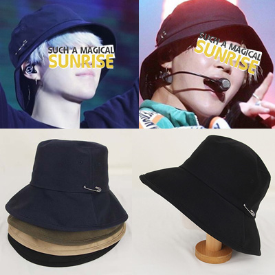 [UNISEX] BTS/SUGA/Jimin st.SAFE PIN POINT BUCKET HAT(4color)