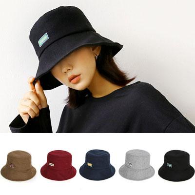 [UNISEX] LOGO PANNEL POINT BUCKET HAT(5color)