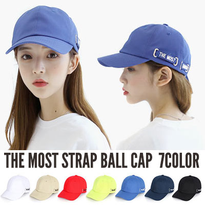 [UNISEX] THE MOST STRAP ボールキャップ(7color)