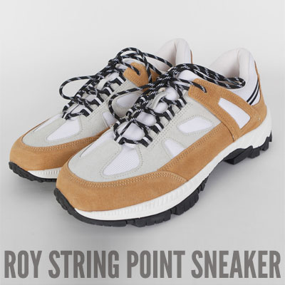 [25.0 ~ 28.0cm] ROY STRING POINT SNEAKERS (2color)