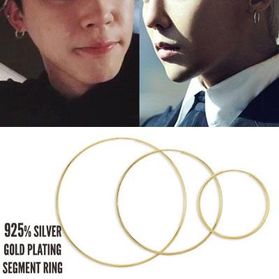 BTS Jimin/G-DRAGON/HYUNA/YOONA st[2ea]925 SILVER TOUCH SEGMENT RING -gold