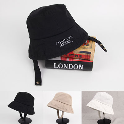 [UNISEX]INNER STRAP POINT COTTON BUCKET HAT(3color)