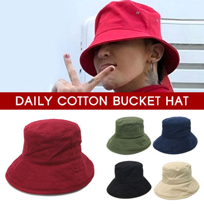 BIGBANG G-DRAGON st.DAILY COTTON BUCKET HAT(5color)