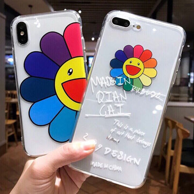 RAINBOW FLOWER CLEAR PHON CASE(2type)