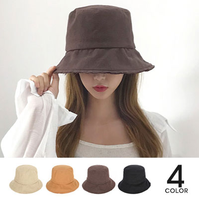[UNISEX]LINEN DAY BY DAY BUCKET HAT(4color)