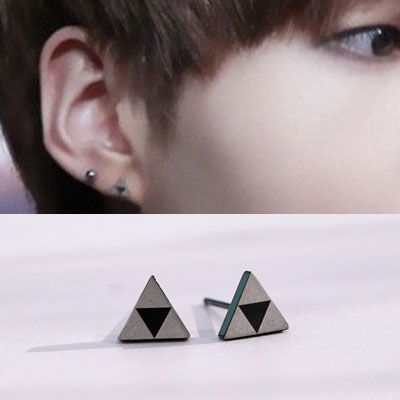 [UNISEX] BTS SUGA st. CHESS PATTERN TRIANGLE PIERCE (4type)