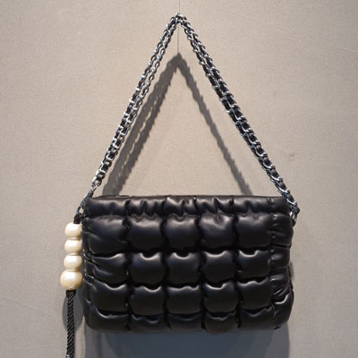 [UNISEX] PEARL STRAP QUILTING CHAIN BAG