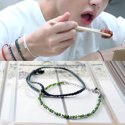 [UNISEX] BTS/V st. BEADS & O RING KNOT BRACELET (2type SET sale)