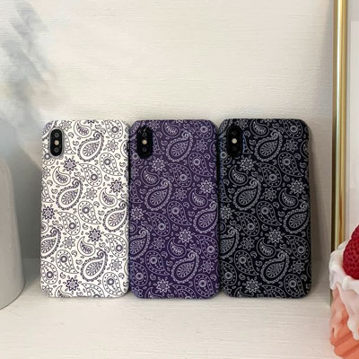 [UNISEX] PAISLEY BANDANA PATTERN PHONE CASE (3color)