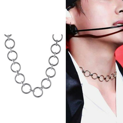 [UNISEX] BTS/V/taetae st. MULTI RING NECKLACE (2size)