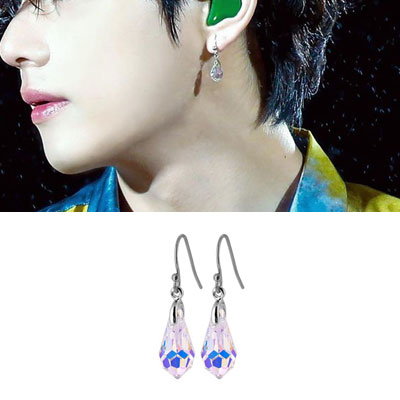 [UNISEX] BTS/V/taetae st. WATER DROP CRYSTAL PIERCE (3type)