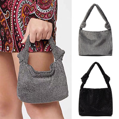 [UNISEX] BEADS KNOT TOTE BAG (2color)
