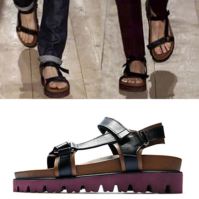 [UNISEX][23.0~28.0cm]LUXURY style/STRAP TWO TONE SANDALS