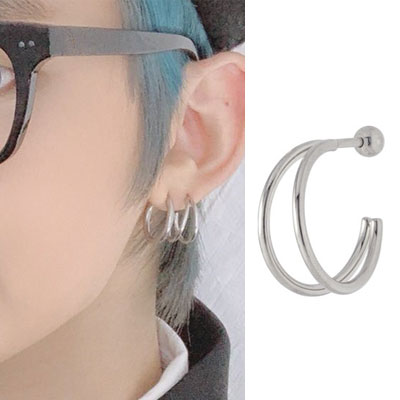 [UNISEX] TomorrowXtogether/TXT/WayV st. SIMPLE CIRCLE LINE PIERCE (6type)