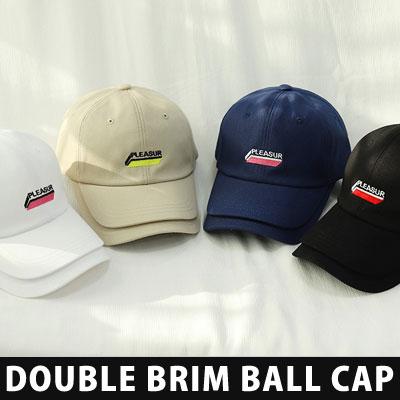[UNISEX] DOUBLE BRIM BALL CAP (4color)