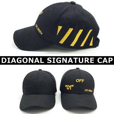 [UNISEX] SIDE DIAGONAL SIGNATURE CAP (2color)