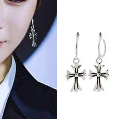 [UNISEX] Kang Daniel/GD st. BIG CROSS RING DROP PIERCE (2type)