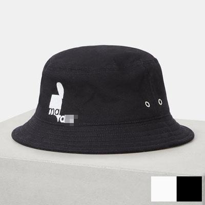 [UNISEX] BLACK&WHITE HALF BUCKET HAT (2color)