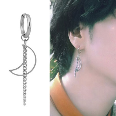 [UNISEX] GOT7 st. MOON CHAIN PIERCE (2type)