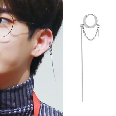 [UNISEX] VICTON/THE BOYZ st. CHAIN LAYERED RING PIERCE (3type)