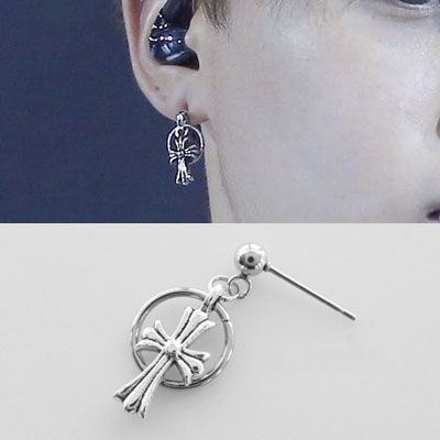 [UNISEX] BTS/Jimin st. CROSS RING PIERCE (3type)