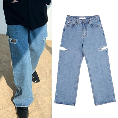 [UNISEX] DOUBLE CUTTING JEANS (3size)