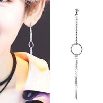 [UNISEX] JBJ st. CIRCLE PENDANT DROP CHAIN PIERCE (3type)