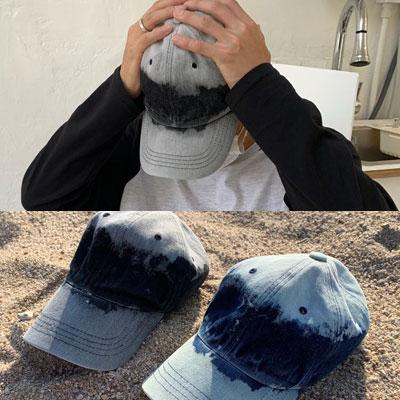 [UNISEX] TIE-DYE DENIM BALL CAP (2color)