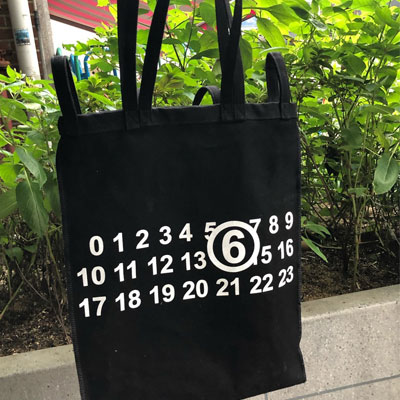 [UNISEX] NUMBERING CANVAS ECO BAG